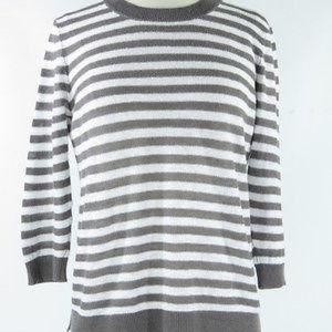 Theory Grey Striped sweater